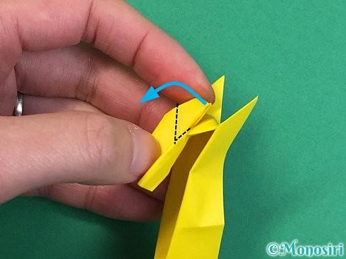 折り紙で立体的なキリンの折り方手順34