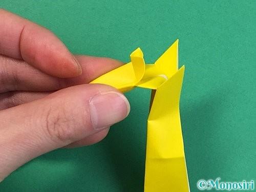 折り紙で立体的なキリンの折り方手順35