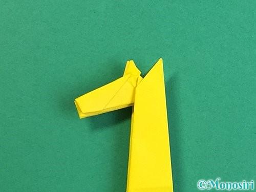 折り紙で立体的なキリンの折り方手順40