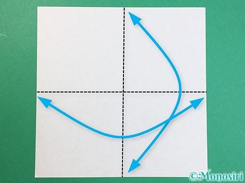 折り紙で立体的なキリンの折り方手順42