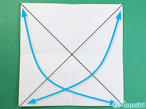 折り紙で立体的なキリンの折り方手順44
