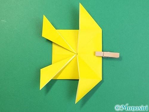 折り紙で立体的なキリンの折り方手順62