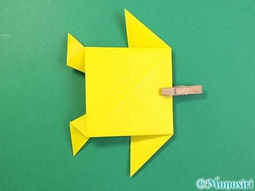 折り紙で立体的なキリンの折り方手順63