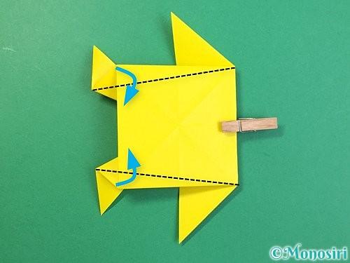 折り紙で立体的なキリンの折り方手順64