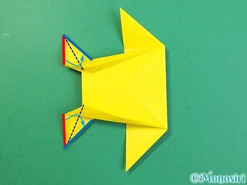 折り紙で立体的なキリンの折り方手順66