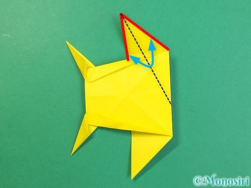 折り紙で立体的なキリンの折り方手順68