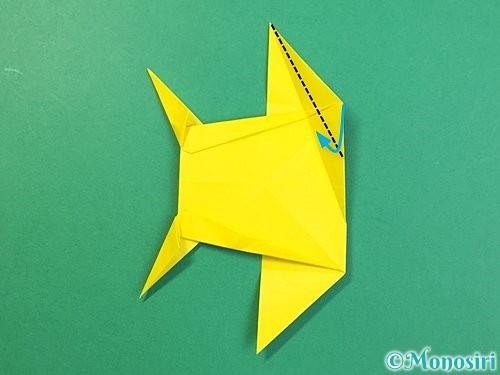 折り紙で立体的なキリンの折り方手順70