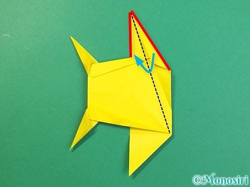 折り紙で立体的なキリンの折り方手順72