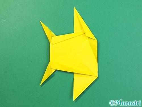 折り紙で立体的なキリンの折り方手順71
