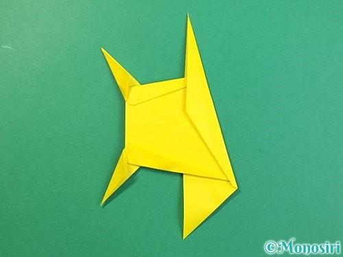 折り紙で立体的なキリンの折り方手順73