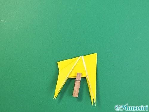 折り紙で立体的なキリンの折り方手順76