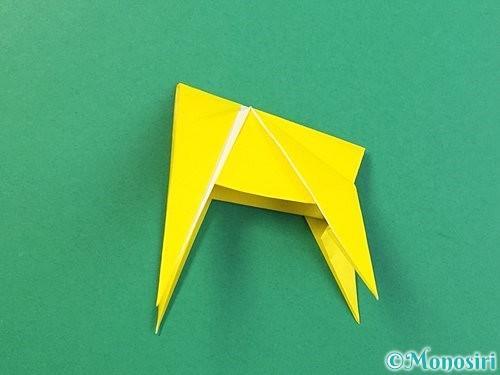 折り紙で立体的なキリンの折り方手順77