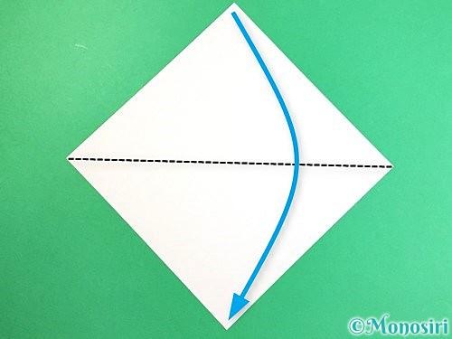 折り紙で豚の顔の折り方手順1