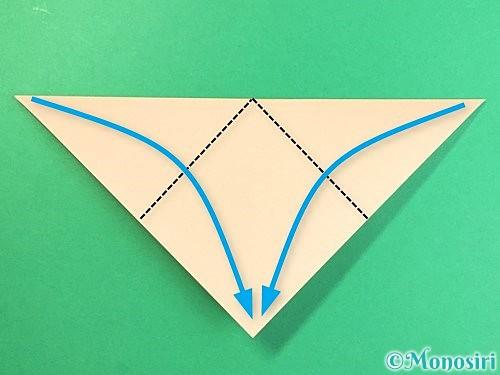 折り紙で豚の顔の折り方手順3