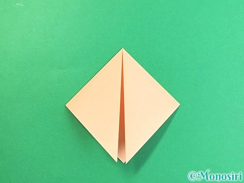 折り紙で豚の顔の折り方手順4