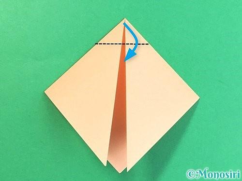 折り紙で豚の顔の折り方手順5