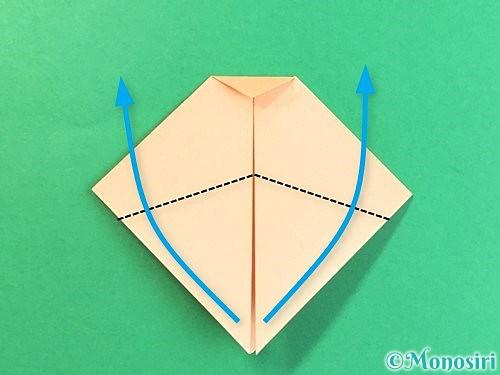 折り紙で豚の顔の折り方手順7