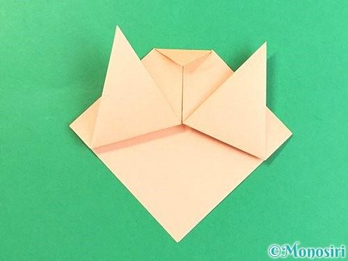 折り紙で豚の顔の折り方手順8