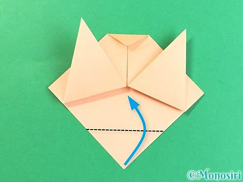 折り紙で豚の顔の折り方手順9