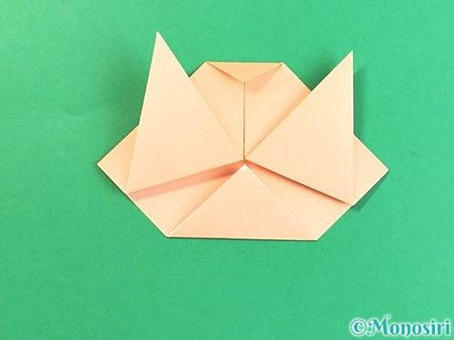 折り紙で豚の顔の折り方手順10