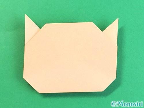 折り紙で豚の顔の折り方手順13