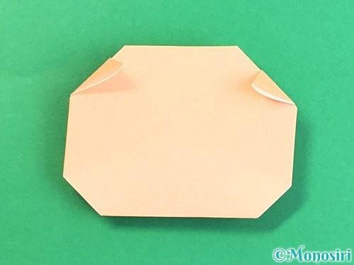 折り紙で豚の顔の折り方手順15