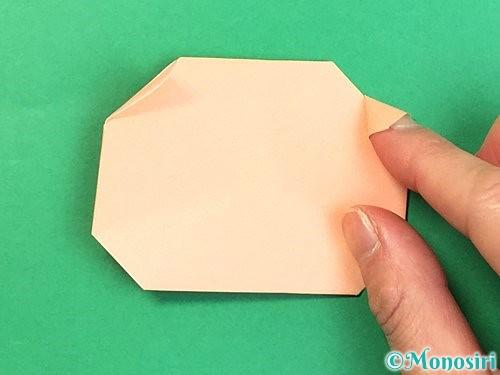 折り紙で豚の顔の折り方手順17