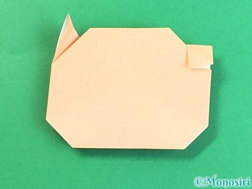 折り紙で豚の顔の折り方手順18