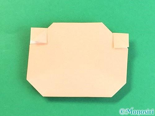 折り紙で豚の顔の折り方手順19