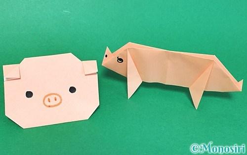 折り紙で折った豚
