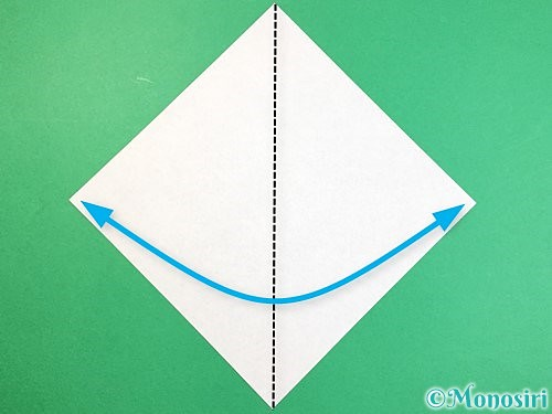 折り紙で象の顔の折り方手順1