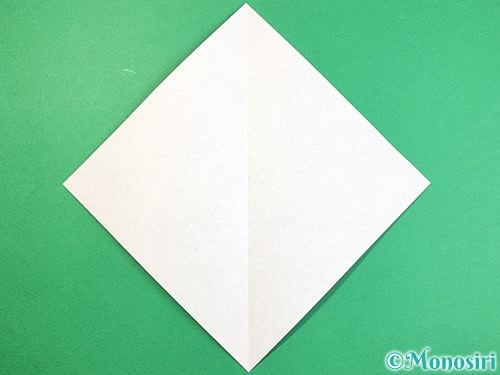 折り紙で象の顔の折り方手順2
