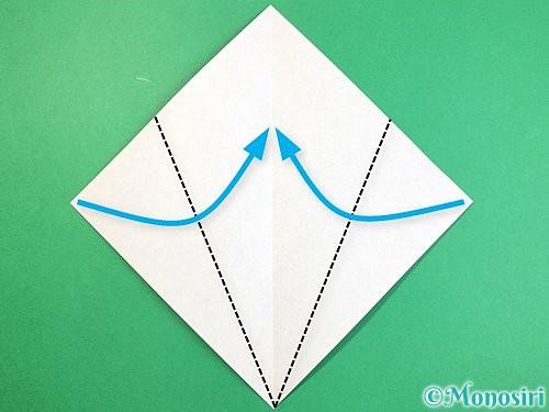 折り紙で象の顔の折り方手順3