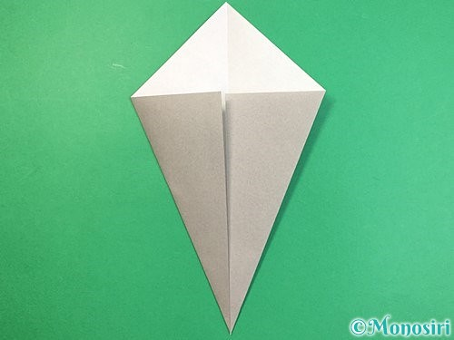 折り紙で象の顔の折り方手順4