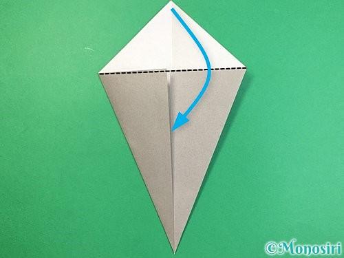 折り紙で象の顔の折り方手順5