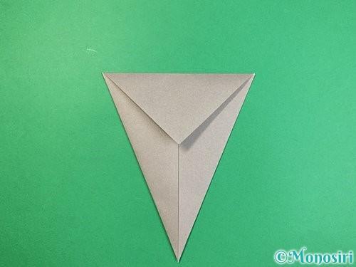 折り紙で象の顔の折り方手順6