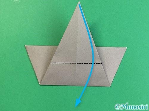 折り紙で象の顔の折り方手順11