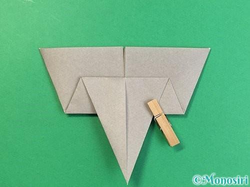 折り紙で象の顔の折り方手順12