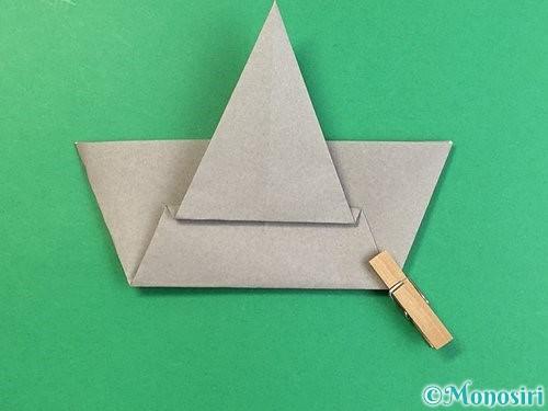 折り紙で象の顔の折り方手順14