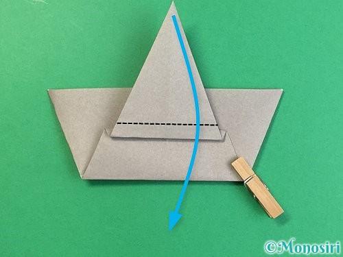 折り紙で象の顔の折り方手順15