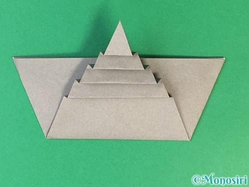 折り紙で象の顔の折り方手順17