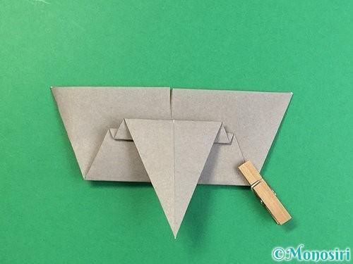 折り紙で象の顔の折り方手順16