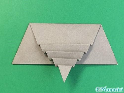 折り紙で象の顔の折り方手順18