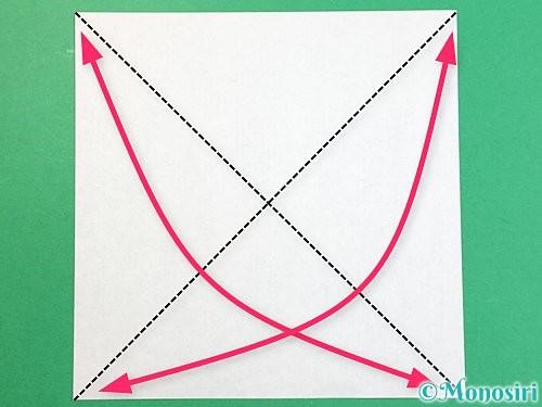折り紙で立体的な象の折り方手順1