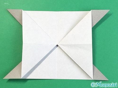 折り紙で立体的な象の折り方手順18