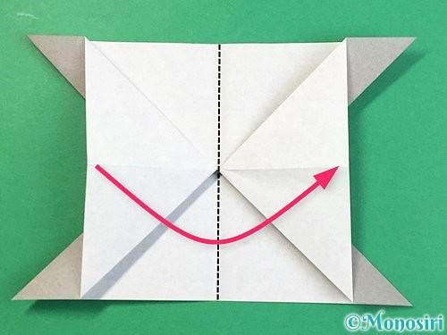折り紙で立体的な象の折り方手順19