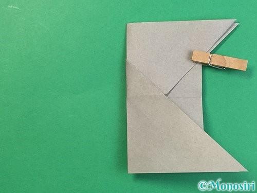 折り紙で立体的な象の折り方手順20