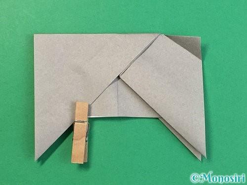 折り紙で立体的な象の折り方手順22