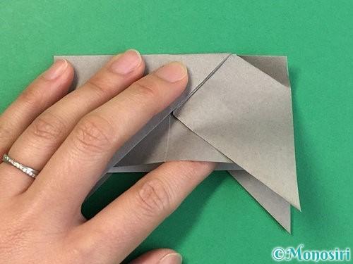 折り紙で立体的な象の折り方手順23