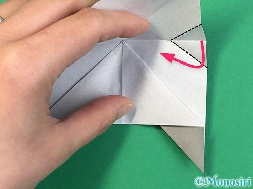 折り紙で立体的な象の折り方手順24